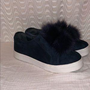 7bcc009de6d4 Sam Edelman · Sam Edelman Pom Pom Blue platform Sneakers ...